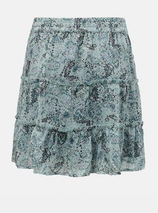 Modrá vzorovaná sukně Jacqueline de Yong Linda