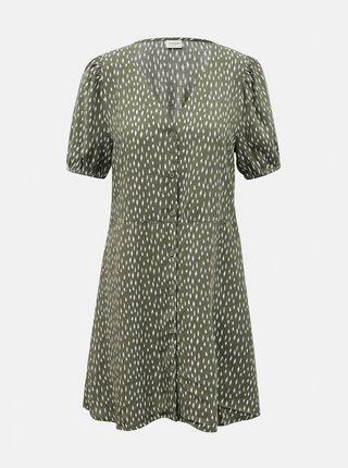 Zelené vzorované šaty s knoflíky Jacqueline de Yong Staar