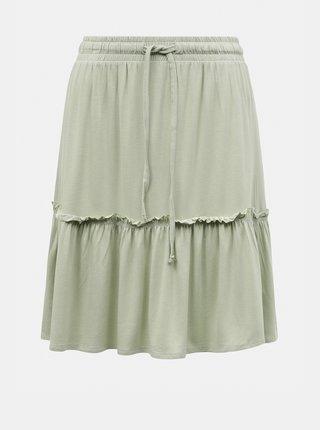 Světle zelená sukně Pieces Neora