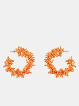 Oranžové náušnice Pieces Teads