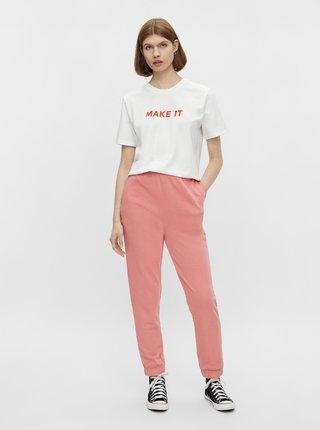 Bílé tričko s nápisem Pieces Niru