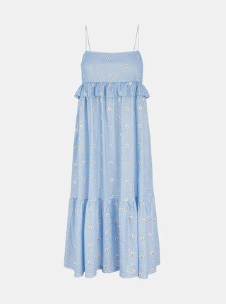 Modré kvetované šaty Pieces Mary