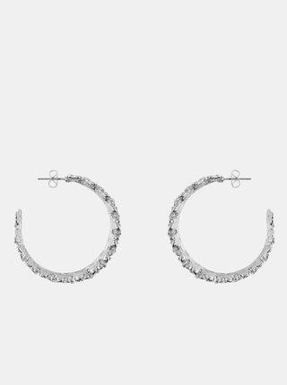 Kruhové náušnice v striebornej farbe Pieces Timla