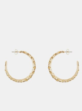 Kruhové náušnice v zlatej farbe Pieces Timla