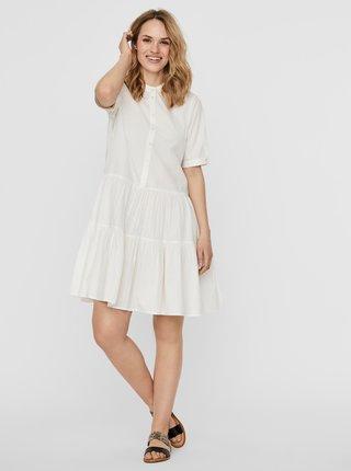 Bílé košilové šaty VERO MODA Delta