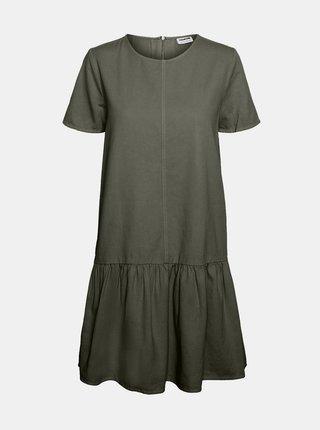 Khaki šaty Noisy May Emilia