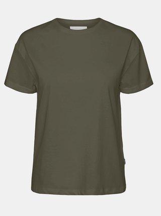 Kaki basic tričko Noisy May Brandy