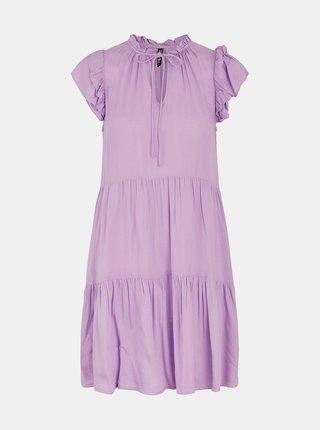 Fialové šaty so zaväzovaním Pieces Teresa
