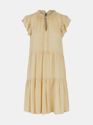 Béžové šaty so zaväzovaním Pieces Teresa