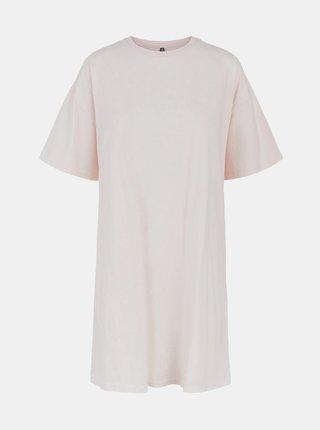 Svetloružové basic šaty Pieces Taryn