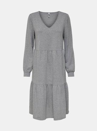 Světle šedé mikinové šaty Jacqueline de Yong Mary