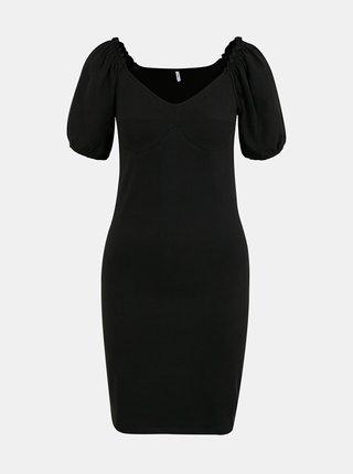 Černé pouzdrové šaty ONLY Niff