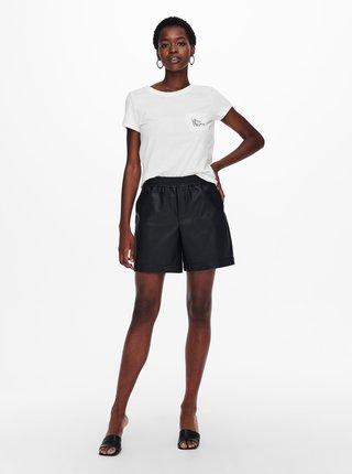Biele tričko s nápisom Jacqueline de Yong Dina