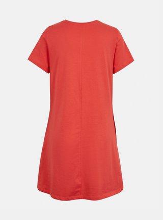 Korálové šaty s kapsami ONLY May