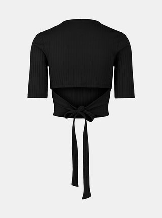 Čierne tričko so zaväzovaním Pieces Tiana