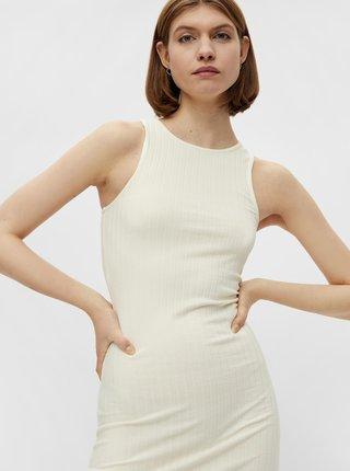 Krémové pouzdrové šaty Pieces Tiana