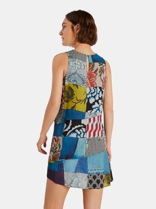 Modré vzorované šaty Desigual Alejandria