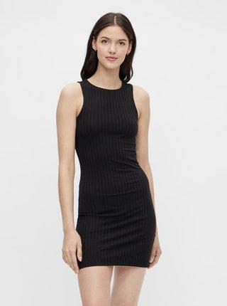 Čierne púzdrové šaty Pieces Tiana