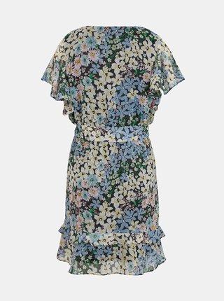 Zeleno-modré kvetované šaty ONLY Pine