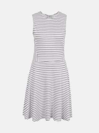 Biele pruhované šaty ONLY Felia