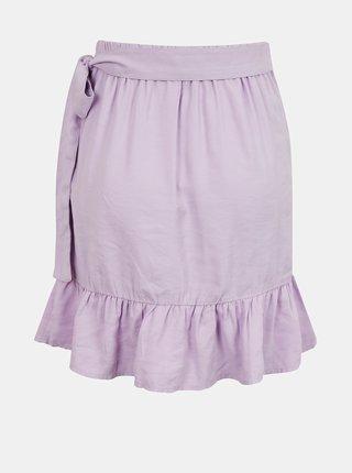 Fialová zavinovací sukně s volánem ONLY Olivia