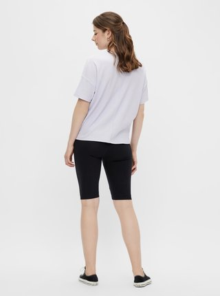 Černé krátké legíny Pieces Tabbi Biker shorts