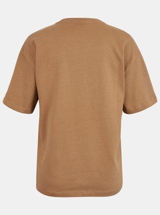 Hnědé tričko AWARE by VERO MODA Magic