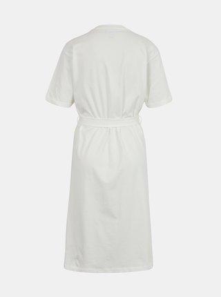 Bílé šaty se zavazováním AWARE by VERO MODA