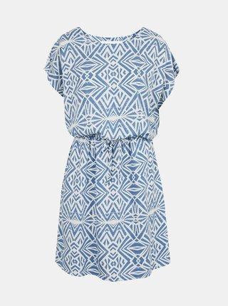 Bielo-modré vzorované šaty s vreckami ONLY Connie