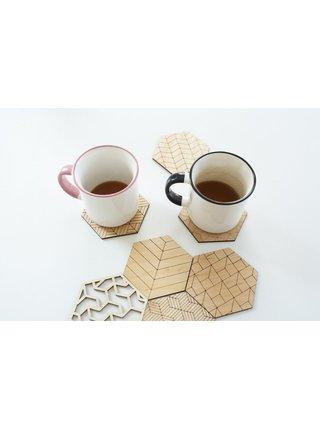 Podložky pod nápoje Deco Coasters ze dřeva