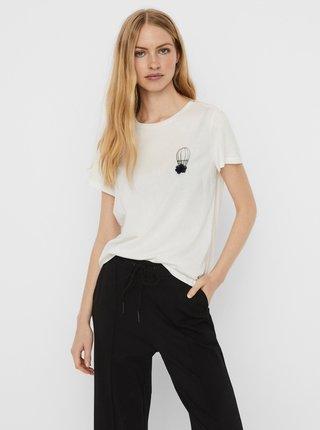 Biele tričko s potlačou VERO MODA Donna