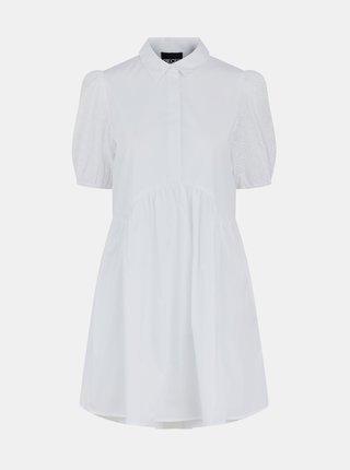 Bílé košilové šaty Pieces Tori