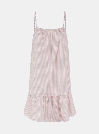 Bielo-růžové pruhované šaty Pieces Palli