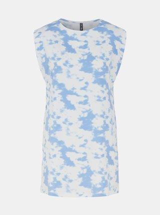 Modro-biele vzorované dlhé tričko Pieces Tabbi
