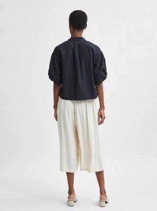 Čierna krátka košeľa Selected Femme Lilo