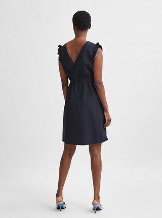 Čierne šaty s volánmi Selected Femme Lilo