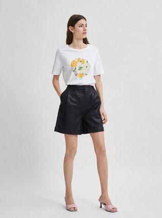 Biele tričko s potlačou Selected Femme Kinja