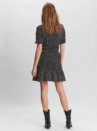 Čierne bodkované košeľové šaty VERO MODA Ditche