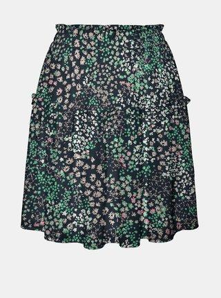 Tmavě modrá květovaná sukně VERO MODA Hannah