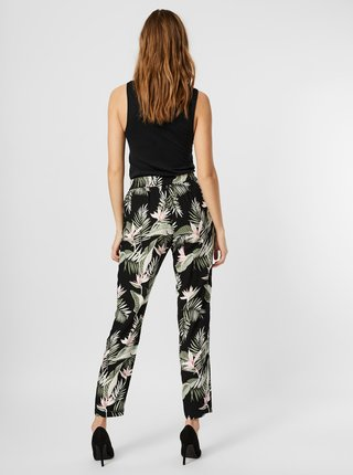 Čierne kvetované nohavice VERO MODA Easy