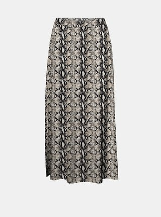 Šedá vzorovaná midi sukňa VERO MODA Easy