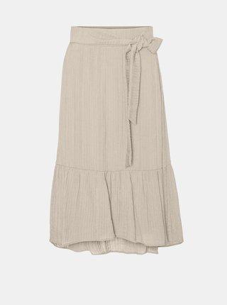 Krémová midi sukně VERO MODA Hajija