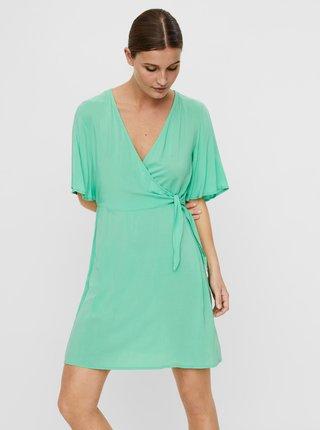 Svetlozelené zavinovacie šaty VERO MODA Ibina