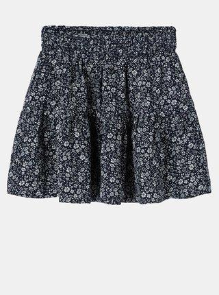 Tmavomodrá kvetovaná dievčenská sukňa name it Karin