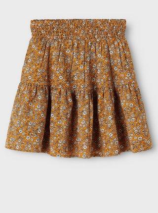 Žltá kvetovaná dievčenská sukňa name it Karin