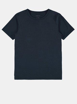 Sada dvou klučičích triček v tmavě modré a šedé barvě name it