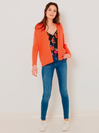 Oranžový kardigan CAMAIEU
