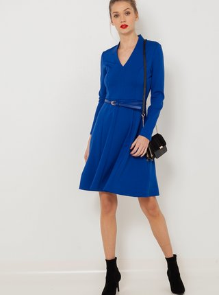 Šaty do práce pre ženy CAMAIEU - modrá