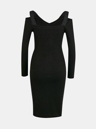 Čierne púzdrové šaty Guess Anagreta