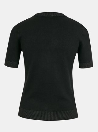 Černé dámské svetrové tričko s ozdobnými detaily Guess Clarisse